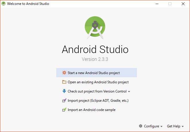 android studio 初期設定