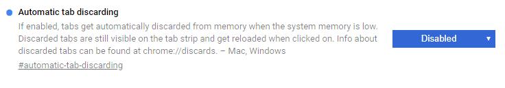 Chromeのタブが勝手に再読み込みされないように設定する方法